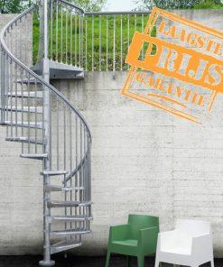 Betaalbare stalen bouwpakket buitentrap, Pixima Steel Zink Ø140 cm