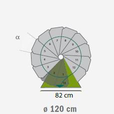 buitentrap spiltrap steel zink diameter 120