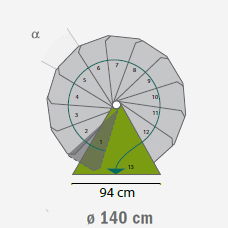 buitentrap spiltrap steel zink diameter 140