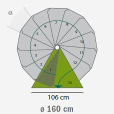 buitentrap spiltrap steel zink diameter 160