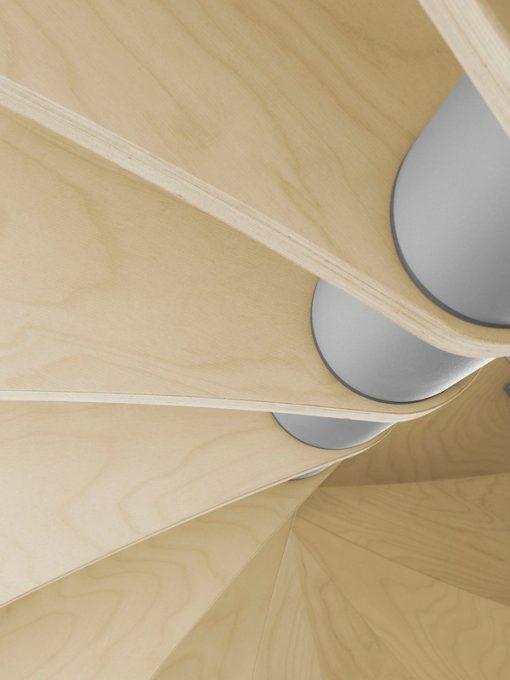 Luxe zelfbouw budget wenteltrap, Fontanot Nice 1