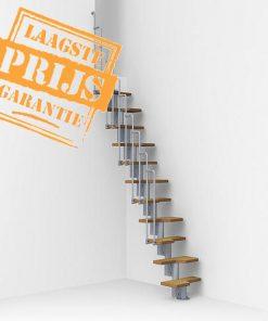 Compacte budget ruimtebesparende trap, Fontanot Nice 2