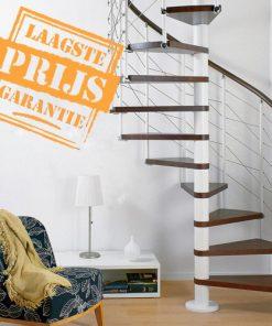 Betaalbare Italiaanse zelfbouw wikkeltrap, Ring Line Ø148 cm