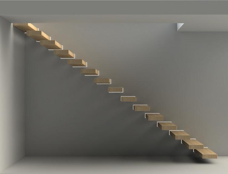 Zwevende Trap Kosten : Bouwpakket zwevende trap wall cm beuken prijzentrappen