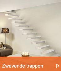 zwevende trappen button