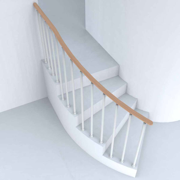 Wonderbaar Witte stalen trapleuning/balustrade, LAN | Prijzentrappen SR-08